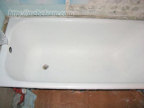 Восстановление ванны, перед покраской
