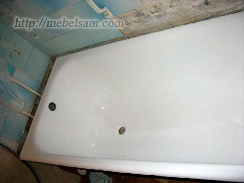 Восстановленная своими руками ванна